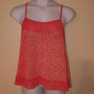 TORRID coral sheer cami BLOUSE- NEW 0